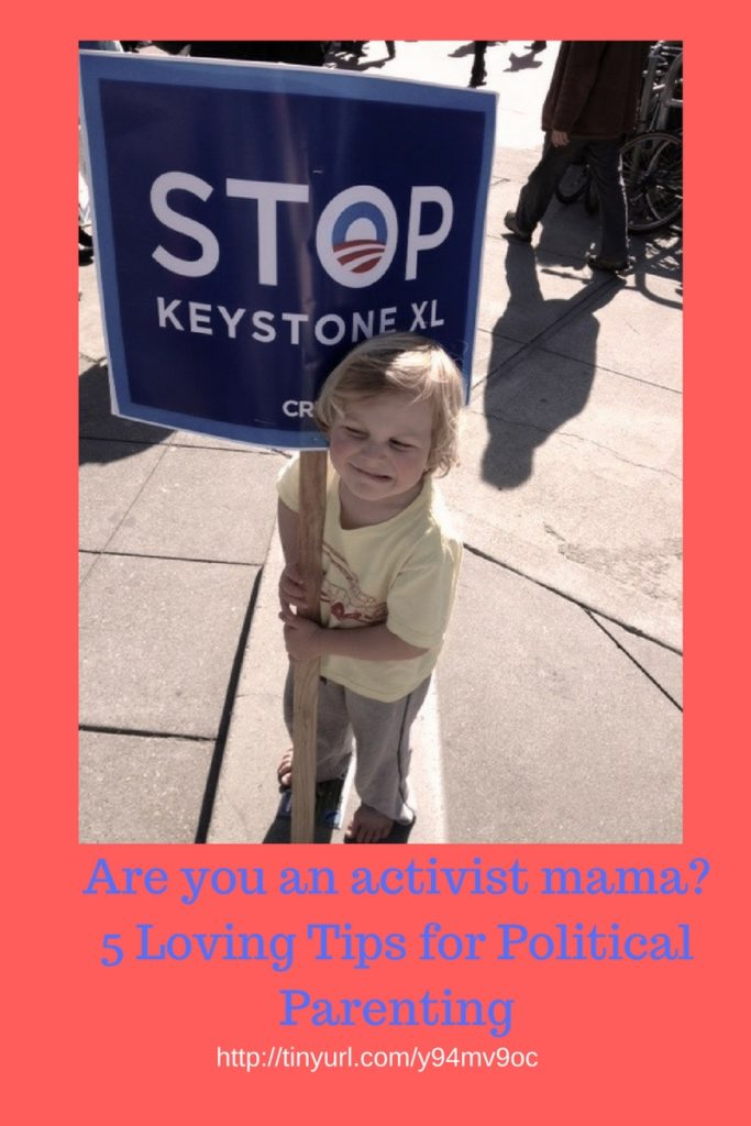Are you an activist mama? Looking for practical advice for political parenting? Click through to learn my five tips for being a politically engaged parent.