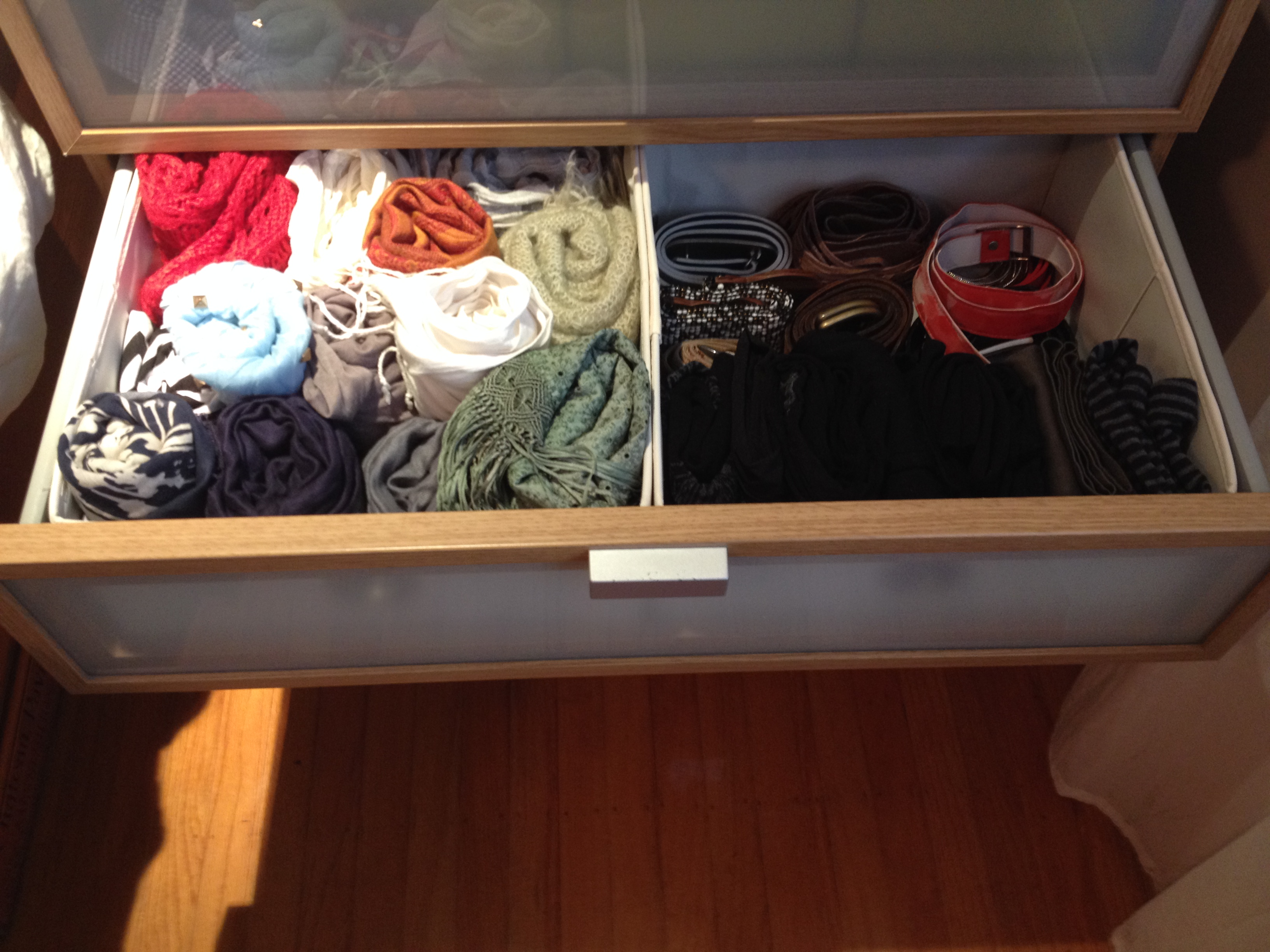 My scarves-and-accessories drawer
