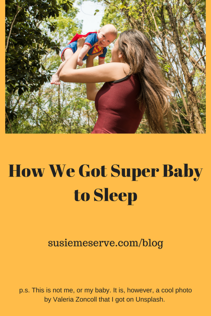 We embraced sleep training and got the super baby to fall asleep on his own. Yay us.